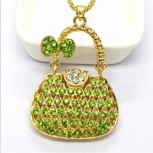 Green Handbag Necklace
